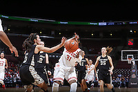 Army Black Knights guard Kelsey Minato (5) and Ohio State Buckeyes guard Raven Ferguson (31) chase a loose ball during the first half of Friday's NCAA Division I basketball game at Value City Arena in Columbus on December 13, 2013. (Barbara J. Perenic/The Columbus Dispatch)