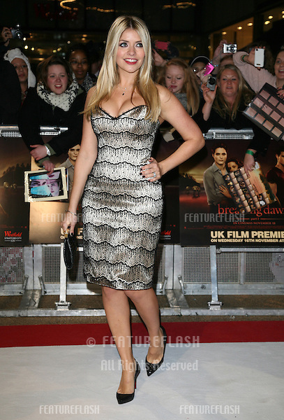 Holly Willoughby arriving for the UK premiere of The Twilight Saga: Breaking Dawn Part 1 at Westfield Stratford City, London. 17/11/2011 Picture by: Alexandra Glen / Featureflash