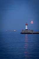 &quot;Lake Superior under the Super Moon&quot;<br />
