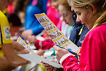 Doncaster Rovers Belles 1 Chelsea Ladies 4, 20/03/2016. Keepmoat Stadium, Womens FA Cup. Doncaster fans studying autograph sheets. Photo by Paul Thompson.