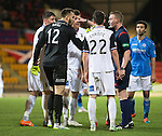 St Johnstone v Inverness Caledonian Thistle...20.12.14   SPFL<br /> Dean Brill argues with ref Brian Colvin after the penalty was awarded<br /> Picture by Graeme Hart.<br /> Copyright Perthshire Picture Agency<br /> Tel: 01738 623350  Mobile: 07990 594431