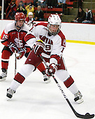 George Hughes (St. Lawrence - 15), Alex Killorn (Harvard - 19) - The St. Lawrence University Saints defeated the Harvard University Crimson 3-2 on Friday, November 20, 2009, at the Bright Hockey Center in Cambridge, Massachusetts.