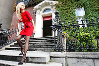 15/7/2010. COAST AUTUMN WINTER 2010 PREVIEW.  Sarah wears an Piper Shirt Dress EUR120 at the preview of the Coast Autumn Winter 2010 collection at 15 St Stephens Green Dublin. Picture James Horan/Collins Photos