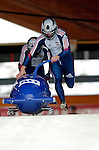 19 November 2005: Alexei Gorlachev pilots the Russia 3 sled to a 35th place finish at the 2005 FIBT AIT World Cup Men's 2-Man Bobsleigh Tour at the Verizon Sports Complex, in Lake Placid, NY. Mandatory Photo Credit: Ed Wolfstein.