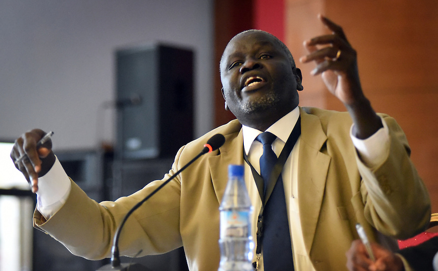 ABLI FORUM 2015. LILONGWE, MALAWI. DAY TWO. HON  AGGRY IDRI, SOUTH SUDANESE MP, OPPOSITION. 16/9/2015. PHOTO BY CLARE KENDALL.