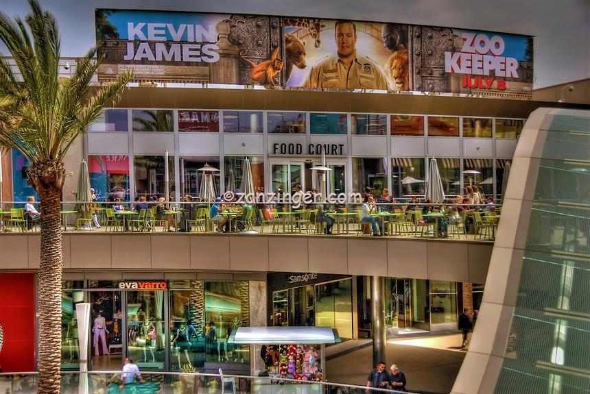 Food Court, Santa Monica Place; fresh, open-air design, shopping mall; Santa Monica; CA;