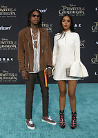 """HOLLYWOOD, CA - May 18: Wiz Khalifa, Guest, At Premiere Of Disney's """"Pirates Of The Caribbean: Dead Men Tell No Tales"""" At Dolby Theatre In California on May 18, 2017. Credit: FS/MediaPunch"""