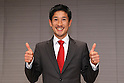 Arata Fujiwara (JPN), .MARCH 12, 2012 - Marathon : Arata Fujiwara speaks to the  press in Tokyo after being selected to the Japan men's marathon team for the 2012 London Olympic Games. (Photo by YUTAKA/AFLO SPORT) [1040]