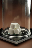 BOYLE'S MARSHMALLOWS<br /> The Inverse Relationship of Pressure &amp; Volume<br /> (1 of 3)<br /> With the bell jar in place, the chamber is evacuated by the vacuum pump.