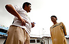 Junard, one of the Manila JusticeMakers, meets with one of the inmates to discuss his upcoming release.  George has been arrested twice, and, though never convicted of any crime, has spent 4 of the last 5 years in jail.