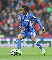 Chelsea's Willian<br /> <br /> Photographer Mick Walker/CameraSport<br /> <br /> The Premier League - Stoke City v Chelsea - Saturday 18th March 2017 - bet365 Stadium - Stoke<br /> <br /> World Copyright &copy; 2017 CameraSport. All rights reserved. 43 Linden Ave. Countesthorpe. Leicester. England. LE8 5PG - Tel: +44 (0) 116 277 4147 - admin@camerasport.com - www.camerasport.com