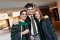 Adam Bensimhon, left, Matthew Graf, Louisa Mook. Commencement class of 2013.