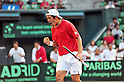 Tatsuma Ito (JPN), SEPTEMBER 17, 2011 - Tennis : Davis Cup by BNP Paribas 2011 World Group play-off match Tatsuma Ito/Yuichi Sugita (JPN) 1(5-7 6-3 3-6 6-7)3 Rohan Boppana/Mahesh Bhupathi (IND) at Ariake Colosseum, Tokyo, Japan. (Photo by Jun Tsukida/AFLO SPORT) [0003]