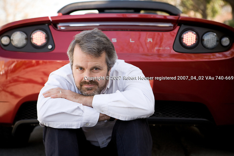 Martin Eberhard - CEO - Tesla Motors: Executive portrait photographs by San Francisco - corporate and annual report - photographer Robert Houser.