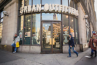 An Urban Outfitters retail store in Greenwich Village in New York on Monday, March 7, 2015. The retailer, which also includes the Free People and Anthropologie brands, reported fourth-quarter earnings that beat analysts' expectations.  (© Richard B. Levine)