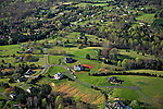 Early spring west of Charlottesville Virginia helicopter aerial