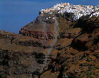 "Imerovigill Village Island of Santorini, Greee Cyclades Aegean Sea ""Thera"" Possible source of Atlantis legend"