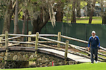18 March 2010:  J.B. Holmes crosses the bridge on his way to the green of the 15th hole in the first round of  the Transitions Championship Tournament at Innisbrook Golf Resort in Palm Harbor, Florida.  Holmes finished the first round at -3.