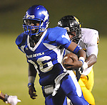 Water Valley's C.J. Jackson (26) runs vs. Charleston in Water Valley, Miss.  on Friday, September 16, 2011.