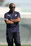 28 March 2009: Washington assistant coach Clyde Watson. The Washington Freedom practiced on Field 2 at the Home Depot Center in Carson, California the day before playing in the Women's Professional Soccer inaugural game.