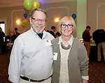 Waterbury, CT- 21 March 2017-032117CM06-  SOCIAL MOMENTS---  From left, Bill and Leslie Alt of Southington  during The Children's Community School Board of Directors Annual Awards Dinner at La Bella Vista in Waterbury on Tuesday.   Christopher Massa Republican-American