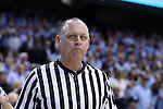 18 February 2017: Referee Tim Clougherty. The University of North Carolina Tar Heels hosted the University of Virginia Cavaliers at the Dean E. Smith Center in Chapel Hill, North Carolina in a 2016-17 Division I Men's Basketball game. UNC won the game 65-41.