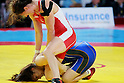 (T-B) Tonya Verbeek (CAN), Saori Yoshida (JPN), SEPTEMBER 15, 2011 - Wrestling : Tonya Verbeek of Canada wrestles Saori Yoshida of Japan in the women's freestyle 55kg final match during the 2011 FILA Wrestling World Championships at Sinan Erdem Dome in Istanbul, Turkey. (Photo by Sachiko Hotaka/AFLO)