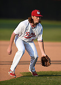 Lake Mary Rams third baseman John Benevolent (30) during practice before a game against the Lake Brantley Patriots on April 2, 2015 at Allen Tuttle Field in Lake Mary, Florida.  Lake Brantley defeated Lake Mary 10-5.  (Mike Janes Photography)
