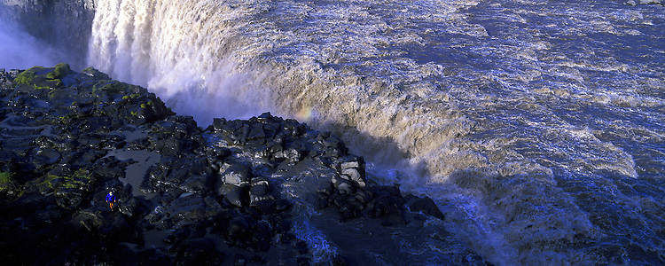 Dettifoss is near Asbyrgi canyon that lies in the north of Iceland, about two hours' drive to the east from Akureyri.  Images taken with Hasselblad Xpan camera and Fuji Velvia film.
