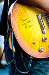An autograph to Devon Allman from Les Paul on Devon's guitar.