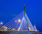 The Leonard P Zakim Bunker Hill Bridge, Boston, Massachusetts, USA