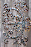 Detail of Deisgn on Door of St Magnus Cathedral, Kirkwall, Orkney Islands, Scotland
