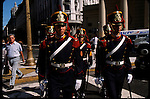 The palace guards from the Casa Rosada walk the Plaza De Mayo twice a day. The plaza was founded in 1580 as Plaza del Fuerte (fortress) and changed it's name to Plaza de Mayo in remembrance of the month of May in 1810 when Buenos Aires declared itself independent from Spain. Since then the plaza has become the country's main place where Argentines come to protest or celebrate their country's important events. The most famous protests have been those of the Madres de la Plaza de Mayo, the mothers of the men and women who disappeared under the dictatorship of General Videla. According to human rights organizations 30,000 Argentines were abducted, tortured and killed by Videla's security forces.