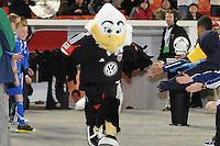 D.C. United mascot Talon.Sporting Kansas City defeated D.C. United  1-0 at RFK Stadium, Saturday March 10, 2012.