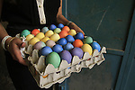 Israel, Easter eggs at the Old City of Jerusalem