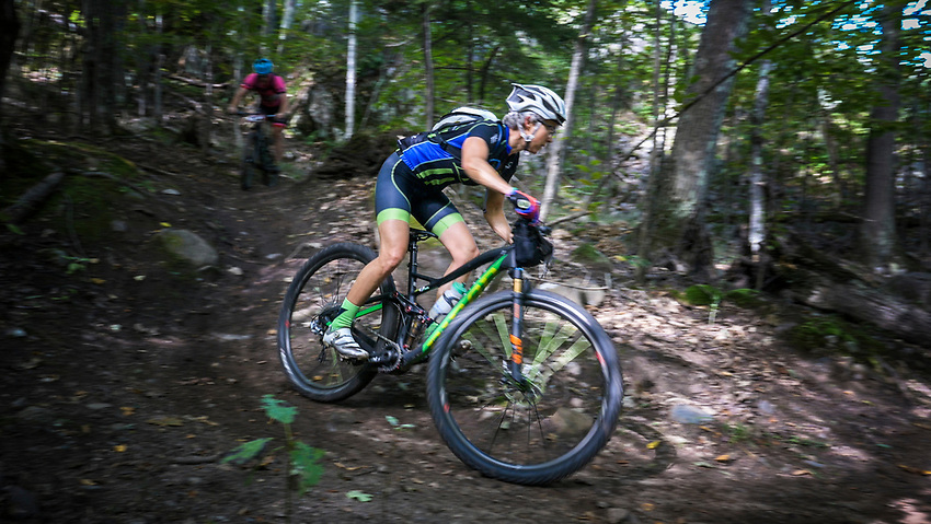 Mountain bikers in the Marji Gesick 100 event in Marquette County, Michigan.
