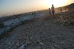 ISRAEL Wadi el-Na'am, Negev desert<br /> kids.