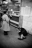 Moscow, Russia<br /> October, 1992<br /> <br /> Central train station.<br /> <br /> In December 1991, food shortages in central Russia had prompted food rationing in the Moscow area for the first time since World War II. Amid steady collapse, Soviet President Gorbachev and his government continued to oppose rapid market reforms like Yavlinsky's &quot;500 Days&quot; program. To break Gorbachev's opposition, Yeltsin decided to disband the USSR in accordance with the Treaty of the Union of 1922 and thereby remove Gorbachev and the Soviet government from power. The step was also enthusiastically supported by the governments of Ukraine and Belarus, which were parties of the Treaty of 1922 along with Russia.<br /> <br /> On December 21, 1991, representatives of all member republics except Georgia signed the Alma-Ata Protocol, in which they confirmed the dissolution of the Union. That same day, all former-Soviet republics agreed to join the CIS, with the exception of the three Baltic States.