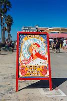 Palm & tarot card readings, fortune teller on Venice boardwalk, Los Angeles
