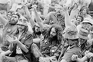 21 Aug 1972, Miami, Florida, USA --- Outside of the 1972 30th Republican Convention, supporting former President Richard Nixon's reelection campaign, several thousand Women's Lib protesters demonstrate. The protest led by Jane Fonda, having just returned from her North Vietnam tour, was joined by the Vietnam Veterans to speak out against the war. No clashes with police were reported. --- Image by © JP Laffont/Sygma/Corbis