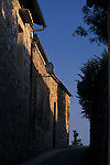 Alley at Sunset San Gimignano Italy