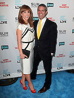 Kathy Griffin, Andy Cohen.Bravo's Andy Cohen's Book Release Party For &quot;Most Talkative: Stories From The Front Lines Of Pop Held at SUR Lounge, West Hollywood, California, USA..May 14th, 2012.full length black suit yellow tie  white dress clutch bag red shoes  .CAP/ADM/KB.&copy;Kevan Brooks/AdMedia/Capital Pictures.