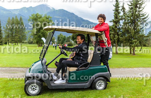 01.08.2016, Golfclub, Zell am See, AUT, Bayer 04 Leverkusen, Trainingslager, im Bild Trainer Roger Schmidt (Bayer 04 Leverkusen), Andre Ramalho (Bayer 04 Leverkusen) // during the Trainingscamp of German Bundesliga Club Bayer 04 Leverkusen at the Golf Club in Zell am See, Austria on 2016/08/01. EXPA Pictures © 2016, PhotoCredit: EXPA/ JFK