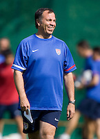 USA's head coach Bruce Arena  during practice in Hamburg, Germany, for the 2006 World Cup, June, 9, 2006.