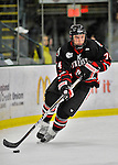 27 January 2012: Northeastern University Huskies' forward Vinny Saponari, a Junior from Powder Springs, GA, in action against the University of Vermont Catamounts at Gutterson Fieldhouse in Burlington, Vermont. The Huskies defeated the Catamounts 8-3 in the first game of their 2-game Hockey East weekend series. Mandatory Credit: Ed Wolfstein Photo