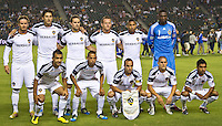 CARSON, CA – September 9, 2011: LA Galaxy starting line-up for the match between LA Galaxy and Colorado Rapids at the Home Depot Center in Carson, California. Final score LA Galaxy 1, Colorado Rapids 0.