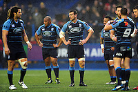 Sam Warburton of Cardiff Blues looks on during a break in play. European Rugby Challenge Cup match, between Cardiff Blues and Bath Rugby on December 10, 2016 at the Cardiff Arms Park in Cardiff, Wales. Photo by: Patrick Khachfe / Onside Images