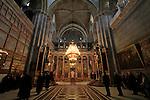 Israel, Jerusalem Old City, the Greek Orthodox katholikon at the Church of the Holy Sepulchere