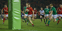 Wales U20's Kieran Williams goes clear before scoring his sides' fourth try<br /> <br /> Photographer Alex Dodd/CameraSport<br /> <br /> RBS Six Nations U20 Championship Round 4 - Wales U20s v Ireland U20s - Saturday 11th March 2017 - Parc Eirias, Colwyn Bay, North Wales<br /> <br /> World Copyright &copy; 2017 CameraSport. All rights reserved. 43 Linden Ave. Countesthorpe. Leicester. England. LE8 5PG - Tel: +44 (0) 116 277 4147 - admin@camerasport.com - www.camerasport.com