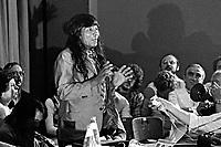 Ato publico contra o Projeto de Emancipaçao do Indio, teatro Tuca. Sao Paulo. 1978. Foto de Juca Martins.